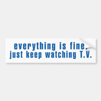 Establishment Message Bumper Sticker
