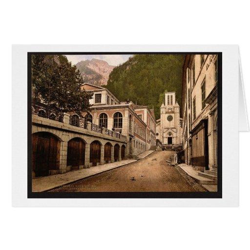 Establishment thermal, Eaux Bonnes, Pyrenees, Fran Cards