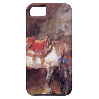 Establo árabe de John Singer Sargent iPhone 5 Carcasas