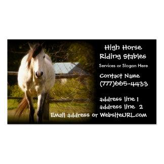 Establos ecuestres o embarque del caballo tarjetas de visita