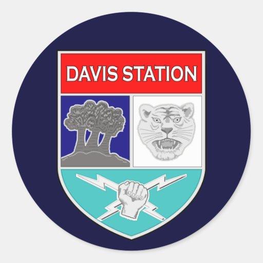 Estación 1 del ASA Davis Pegatina Redonda