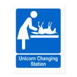 Estación cambiante del unicornio postal