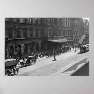 Estación central magnífica 1908 poster
