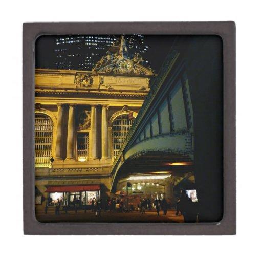 Estación central magnífica - noche - New York City Cajas De Joyas De Calidad