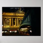 Estación central magnífica - noche - New York City Posters