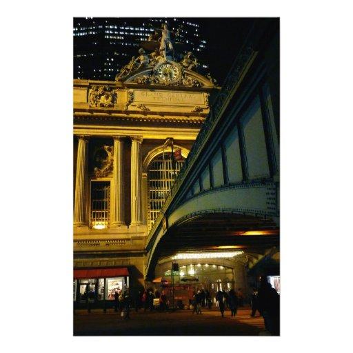 Estación central magnífica - noche - New York City Papelería De Diseño