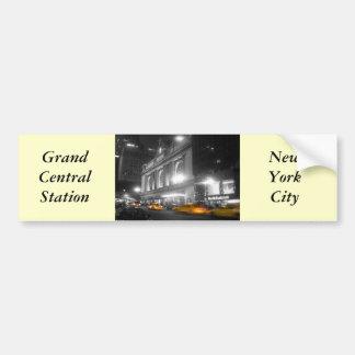 Estación central magnífica Nueva York Pegatina Para Auto