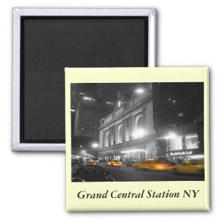 Estación central magnífica Nueva York Imán Cuadrado