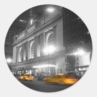 Estación central magnífica Nueva York Pegatina Redonda