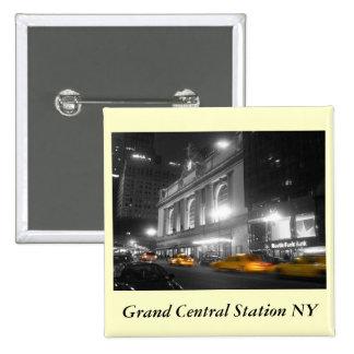 Estación central magnífica Nueva York Pin Cuadrada 5 Cm