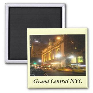 Estación central magnífica, NYC Imán Cuadrado