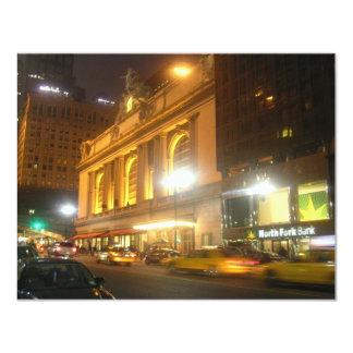 """Estación central magnífica, NYC Invitación 4.25"""" X 5.5"""""""