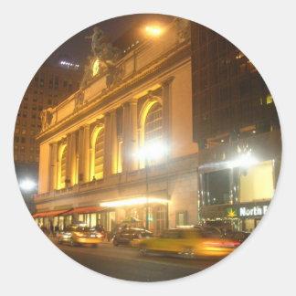 Estación central magnífica, NYC Pegatina Redonda