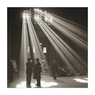 Estación Chicago, 1943 de la unión Lona Envuelta Para Galerías