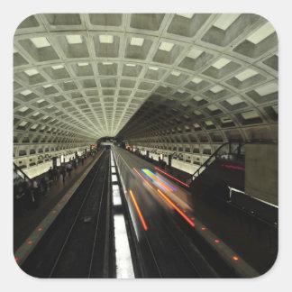 Estación cuadrada de McPherson, metro, Washington, Pegatina Cuadrada