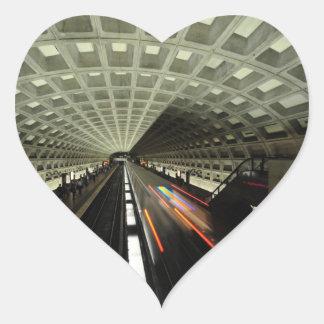 Estación cuadrada de McPherson, metro, Washington, Pegatina En Forma De Corazón