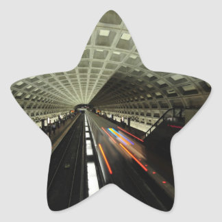 Estación cuadrada de McPherson, metro, Washington, Pegatina En Forma De Estrella