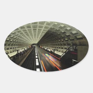 Estación cuadrada de McPherson, metro, Washington, Pegatina Ovalada