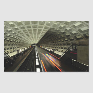Estación cuadrada de McPherson, metro, Washington, Pegatina Rectangular