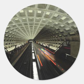 Estación cuadrada de McPherson, metro, Washington, Pegatina Redonda