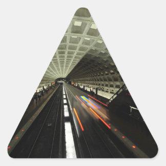 Estación cuadrada de McPherson, metro, Washington, Pegatina Triangular
