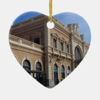Estación de Cartagena Adorno Navideño De Cerámica En Forma De Corazón