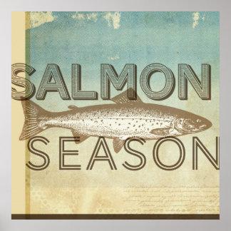 Estación de color salmón posters