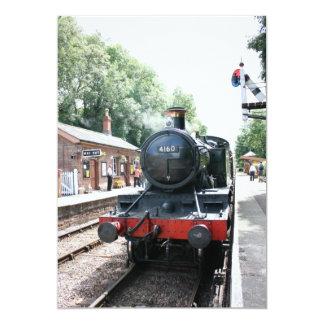 """Estación de Crowcombe Heathfield, ferrocarril de Invitación 5"""" X 7"""""""