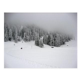 Estación de esquí Rumania Piana Brasov nevando Tarjeta Postal
