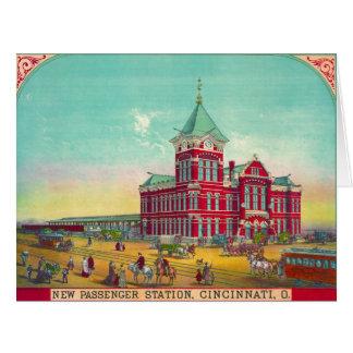 Estación de ferrocarril de Cincinnati 1881 Felicitacion