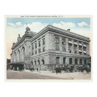 Estación de ferrocarril de Nueva York del vintage  Tarjetas Postales