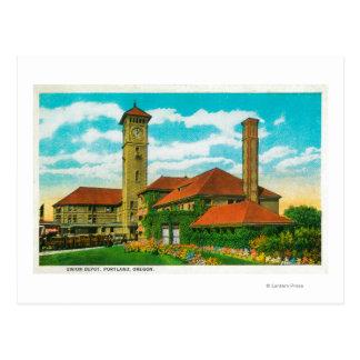 Estación de ferrocarril del depósito de la unión tarjetas postales