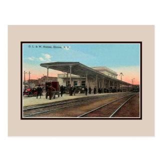 Estación de ferrocarril del vintage Ca 1910 Elmira Postales