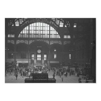 Estación de ferrocarril invitación 12,7 x 17,8 cm