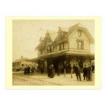 Estación de ferrocarril, Matawan, vintage de New J Postales