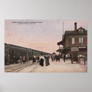 Estación de ferrocarril pacífica meridional póster