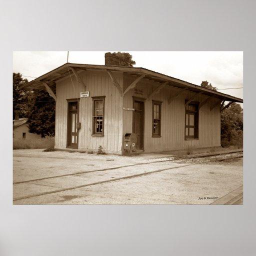 Estación de ferrocarril, Quebeck Tennessee Posters