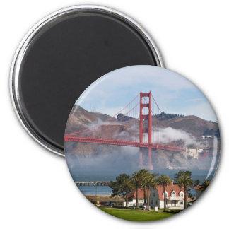 Estación de guardacostas de puente Golden Gate Imán Redondo 5 Cm