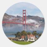 Estación de guardacostas de puente Golden Gate Etiqueta Redonda