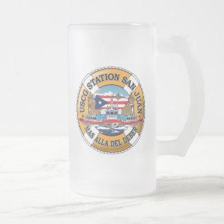 Estación de guardacostas San Juan Puerto Rico Jarra De Cerveza Esmerilada