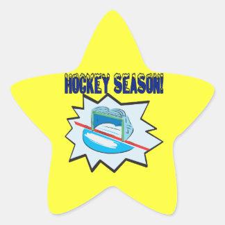 Estación de hockey pegatina en forma de estrella