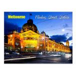 Estación de la calle del Flinders, Melbourne - en  Tarjeta Postal