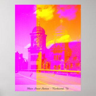 Estación de la calle principal - Richmond, Va Impresiones