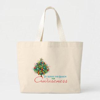 Estación de la conciencia de Navidad de la cinta d Bolsa De Mano