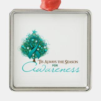 Estación de la conciencia de Navidad de la cinta d Adorno De Navidad