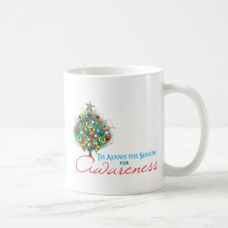 Estación de la conciencia de Navidad de la cinta d Tazas De Café