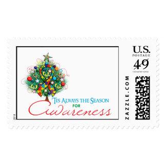 Estación de la conciencia de Navidad de la cinta Envio