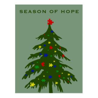 Estación de la esperanza - autismo tarjetas postales