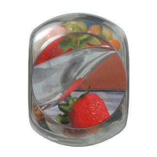 Estación de la fresa jarras de cristal
