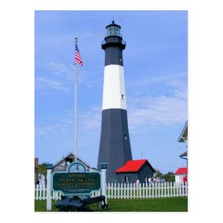 Estación de la luz de la isla de Tybee Tarjetas Postales